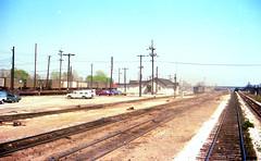 Rose Lake Yard in April 1977 (craigsanders429) Tags: conrail conrailroselakeyard eaststlouisillinois railroadtracks fairmontcityillinois railroadyards intermodaltrains