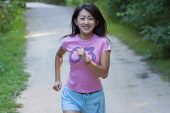 Running Mei (Chris-Creations) Tags: mei 20040806003 portrait people pretty chinese asian woman lady petite girl feminine femme fille attractive sweet cute beauty lovely amateur wife gorgeous beautiful glamour mujer niña guapa chica esposa женщина 女孩 女人 性感 妻子 jog running jogging smile smiling