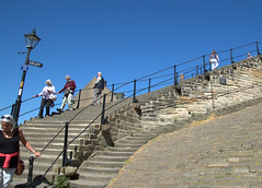 199 steps at Whitby (Tony Worrall) Tags: yorkshire yorks scene scenery northyorkshire resort yorkshirephotos east eastern seasidetown holidays tourists coast photographsofwhitby whitbyphotos whitby 199steps climb steps high iconic north update place location uk england visit area attraction open stream tour country item greatbritain britain english british gb capture buy stock sell sale outside outdoors caught photo shoot shot picture captured ilobsterit instragram