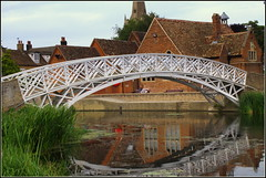 Chinese Bridge (Lotsapix) Tags: cambridgeshire huntingdon godmanchester river ouse riverouse water reflections bridge grade2listed