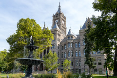 City Hall in Salt Lake City (aaronrhawkins) Tags: saltlakecity utah city hall building architecture ornate fancy old park fountain government municipal aaronhawkins