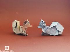 Recumbent Toys Spitz - Barth Dunkan. (Magic Fingaz) Tags: anjing barthdunkan chien chó dog hond hund köpek origami paperfolding perro pies пас пес собака หมา 개 犬 狗 mfpp ecorigami origamidog