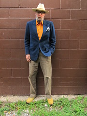 9-12-2019 Today's Clothes (Michael A2012) Tags: this mans summer style vintage fashion stetson 3x beaver fur felt hat raja fashions suede leather massada banana republic hm