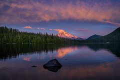 Pink Sunset over Mt. Hood at Lost Lake, Mt. Hood National Forest, Cascade Mountains, Oregon (diana_robinson) Tags: pinksunset sunset oregon mthood mounthood lostlake pacificnorthwest pinetrees summer cascaderange remote noone nationalforest mthoodnationalforest outdoors scenic adventure water