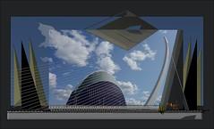 Higon_3891 (Amparo Higón) Tags: urbam arquitecturamoderna architecture valencia ciudaddelasartes ágora fotoscondibujos photoswithgraphics digitalart digitalpainting amparohigón