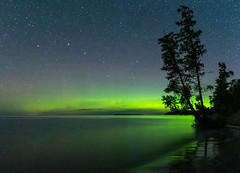A surprise to the North (The Charliecam) Tags: landscape great lakes lake michigan lower peninsula long exposure favorites empire canon 6d tamron 1530mm night sky nightscape sleeping bear dunes national park auroraborealis northernlights