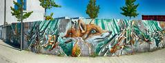 The fabulous Fox (JuliSonne) Tags: streetart urbanekunst mauer wall graffiti colors scene urban pasteup stencil street karlsruhe wuam