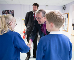 Bishop Paul starts the school year off with an early visit