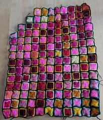 sept 10 (onebluestocking) Tags: temperaturetracker blanket msd laceweight afghan crochet minifee