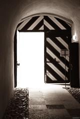 Open (Listenwave Photography) Tags: castle travel prison shadow light sigmadp3m door saintpetersburg foveon listenwave sepia