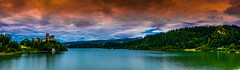 Two Castles - Spisz (Andrzej Kocot) Tags: andrzejkocot art adventure architecture landscape landscapes water sky surreallandscape sunlight surreal skyline creative clouds colors countryside castle fineart field olympus omd outdoor poland polska photography panorama
