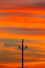 Connections (Nicola Pezzoli) Tags: formentera isola island spain sea mediterraneo mare holiday vacanze baleari baleares nature natura pole sunset fire sky clouds mola pilar