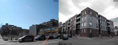 Before / After: rue Amherst street (Vanishing Montréal) Tags: history villedemontreal montreal histoire photography art architecture demolition disappearinghistory newconstruction