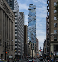 56 Leonard Street, NYC (iammattdoran) Tags: jenga tower skyscraper architect architecture tribeca new york ny nyc manhattan towers glass condo condominium apartments houses sky private space luxury building canyon street streetscape road highway expensive wealth rich