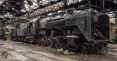 MÁV 424 053 Nurmi (_NeQo_) Tags: abandoned train steam decayed derelict hall red star black beauty exploring exceptional forgotten graveyard industrialarcheology kettle lost mysterious machines metal neglected nostalgic old omdem1 peeling paint rust utopia postnuclear