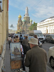 St. Petersburg (vittorio vida) Tags: russia stpetersburg peter leningrad neva river canal church cathedral panorama landscabe buildings architecture history painter painting boats peterthegreat czar emperorneedle admiralty