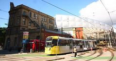 UK - Manchester tram (onewayticket) Tags: tram transport urban metrolink bombardier m5000 bombardierm5000