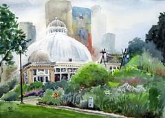 Allan Gardens, Plein Air, 2019-09-10 (light and shadow by pen) Tags: