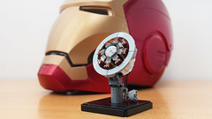 The proof that Tony Stark has a heart (hachiroku24) Tags: lego iron man arc reactor moc marvel avengers