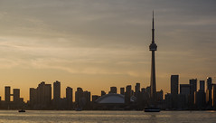 Crossing to the Islands (MikeTheExplorer) Tags: toronto ontario canada northamerica travel traveling travelling traveller traveler wanderlust explore discover city architecture skyline sunset twilight cntower streetphotography lakeontario torontoislands skyscraper skyscrapers cityphotography fujifilm camera fujifilmxt100 composition color colorful colors