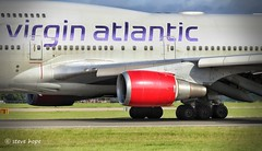 Virgin Atlantic 747- 443 G-VROS (SteveH1972) Tags: canonef70200mmf28lusm canon700d 700d canon70200 nonis canon manchesterairport manchester ringway 747443 747 boeing airport aviation airplane jumbo red outside outdoor outdoors england uk britain europe lancashire