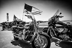 9/11 Remembrance (alhawley) Tags: american bw usa abstract biker blackandwhite blur flag grain gritty harleydavidson highcontrast monochrome patriotguard photojournalism ricoh ricohgw3 ricohgrii sooc street streetphotography surreal motorcycle indian