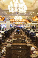 Las Vegas, Nevada –October, 1: The interior of one of the hotels & Casino Halls in Las Vegas in October 1, 2013, USA (DmitryMorgan) Tags: lasvegas theus usa america unitedstates nevada hotel casino las gamble roleta poker strip attraction gambling bright nighttime light evening building vegas elegant games bet entertainment colorful resort nv vacation interior indoors cards table marble roulette hall verticalimage editorial