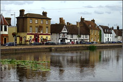 River Ouse (Lotsapix) Tags: cambridgeshire huntingdon godmanchester river ouse riverouse water building buildings reflections pub inn tavern ale alehouse