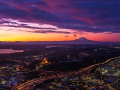 Rainier Sunrise from Seattle (www.mikereidphotography.com) Tags: gfx50s