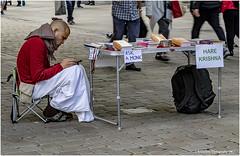 Ask A Monk (Explored 13-09-2019) (Fermat 48) Tags: marketstreet manchester uk monk harekrishna mobilephone cellphone books canon eos 7dmarkii