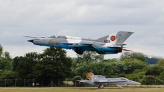 RIAT 2019_MiG-21_15 (andys1616) Tags: romanian air force mikoyangurevich mig21 lancerc 6824 royal international airtattoo raffairford gloucestershire july 2019