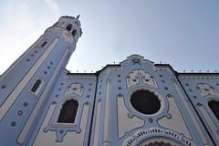 Blue Church (Thorsten Reiprich) Tags: summer europe day sunshine city urban slovensko religion catholic architecture outside modrý kostol alžbety elizabeth art nouveau
