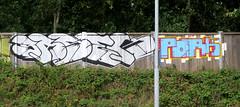 Graffiti in Amsterdam (wojofoto) Tags: amsterdam nederland netherland holland graffiti streetart wojofoto wolfgangjosten basek pork