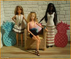 Memories of Summer Days V. (Mary (Mária)) Tags: barbie summer summertime pineapple fashion fashionistas summerdays summerdress handmade interior doll toys ootd dollphotography dollphotographer mattel marykorcek sun scene dollcollector madetomove barbiebasic barbiestyle