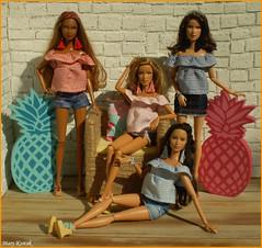 Memories of Summer Days VII. (Mary (Mária)) Tags: barbie summer summertime pineapple fashion fashionistas summerdays summerdress handmade interior doll toys ootd dollphotography dollphotographer mattel marykorcek sun scene dollcollector madetomove barbiebasic barbiestyle