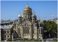 The Church of The Assumption of Mary (clive_metcalfe) Tags: stpetersburg russia church building dome rooftops crossing fresco ornate window petrograd