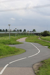 the long and winding road (andrevanb) Tags: amsterdam twiske outdoors nature meadows road trip wild life death camino path cows bridge adventure danger victory bent