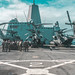 U.S. Marines conduct a walk through of Marine Heavy Helicopter Squadron 361