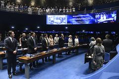 Plenário do Senado (Senado Federal) Tags: plenário sessãoespecial comemoração homenagem aniversário juscelinokubitschek memorialjk hinonacional bancada convidado coraldosenado glicíniamendes regente brasília df brasil