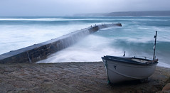 A dark and stormy morning (tonysemmens) Tags: stormy littleboats littleharbour sennencove cornwall lovecornwall kernow sea waves earlybird
