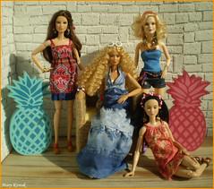 Memories of Summer Days IV. (Mary (Mária)) Tags: barbie summer summertime pineapple fashion fashionistas summerdays summerdress handmade interior doll toys ootd dollphotography dollphotographer mattel marykorcek sun scene dollcollector madetomove barbiebasic barbiestyle