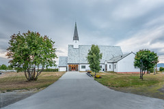 Elvebakken kirke i Alta (Robin Lund) Tags: alta elvebakken finnmark norge norway bedehus betongkirke building bygning church gudshus kirke langkirke murkirke nordnorsk trekirke