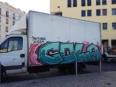 Lisbon graffiti (Thomas_Chrome) Tags: lisbon lisboa portugal graffiti streetart street art spray can europe illegal vandalism truck car