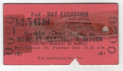 1958 FA Cup Final Barnsley Court House to Wembley Central & Return (andyhorsfield63@gmail.com) Tags: barnsley manchesterunited bolton boltonwanderers ticket britishrail facupfinal facup