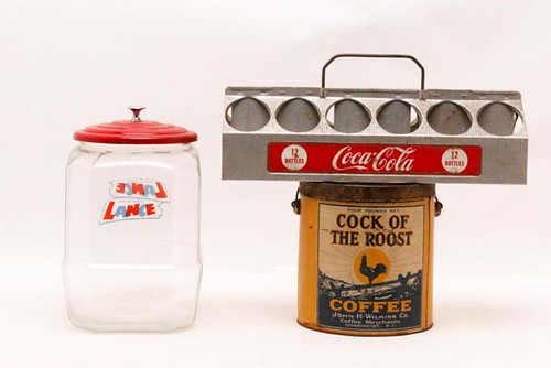 Cock of the Roost Coffee Can ($61.60) 12-pack Coca-Cola Carrier ($28.00)