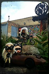 The Warriors (Motor City Dolly) Tags: custom ooak blythe doll blonde alpaca mad max wasteland sci fi middie motor city dolly