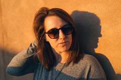 Kelly in the Sun. (M///S///H) Tags: rx1 kelly newmexico pointandshoot sony sonyrx1 stucco sun taos