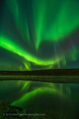 Aurora Reflections at Madeline Lake #4 (Amazing Sky Photography) Tags: arcturus aurora bigdipper ingraham madeline nwt northernlights northwestterritories yellowknife borealis lake nightscape reflections stars trail water