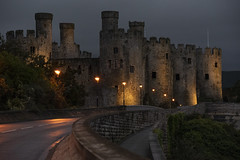 Conwy Castle by Night (Frightened Tree) Tags: castle castell conwy coast wales cymru edward king i night welsh a55 harbour subjugation history hanes