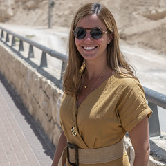 Woman in the Desert (Ron Scubadiver's Wild Life) Tags: people portrait outdoor desert bridge nikon 24120 sunglasses